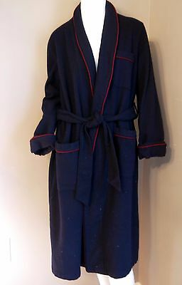 Vintage Men Christian Dior Robe De Chambre Navy Blue Robe  Size M
