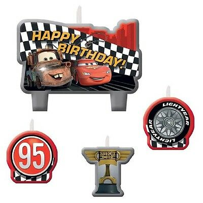 Disney CARS ~ (4) Candle Set ~ Cake Decoration Birthday Party School Supplies