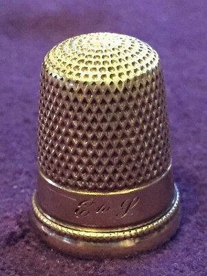 14K Yellow Solid Gold Vintage Thimble Size 8 5.33 Grams.-887