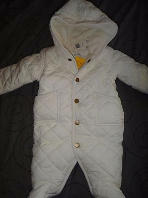 NWT Polo Ralph Lauren Infant Girl's Quilted Snowsuit Overall Hooded 3 Months