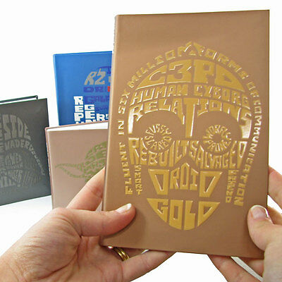 C-3PO Star Wars Notebook Embossed Front Novelty Gift Official | Quirky