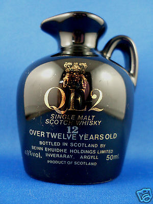 QE2 12 YEAR OLD Single Malt Scotch Whisky (Scotland) MINIATURE FLAGON Man Cave