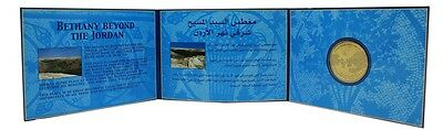Jordan 5 Dinars, 2000 (1420), KM-71, MINT, Millennium Jesus Commemorative Folder