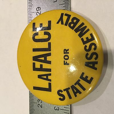 """LaFalce for State Assembly Political  Novelty Button 10A 2"""""""