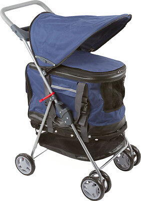 Valentina Valentti  Pet Stroller, Pushchair For Pets In Blue Colour