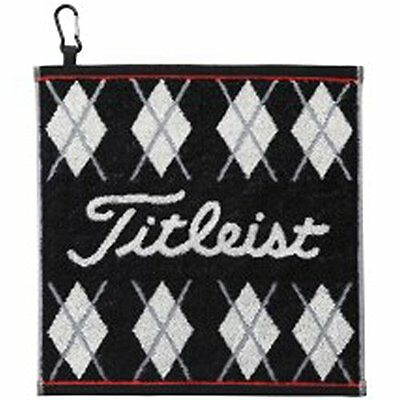 TITLEIST Golf Hand Towel Cotton AJTWH51 Black w/ Fook 34cm X 35cm Japan F/S
