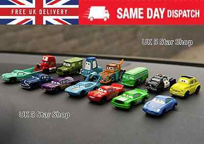 14 NEW Pixar Disney Cars 1-2 Bundle set Action Figure classic toys + Cake topper