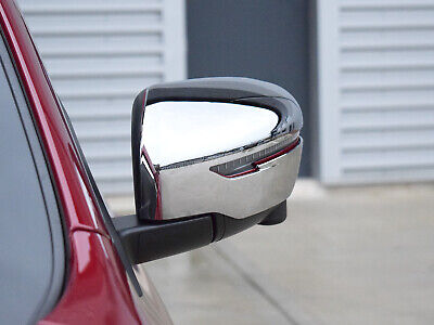 Chrome ABS 2pc Door Wing Mirror Cover Trim for Nissan Qashqai (14+ )