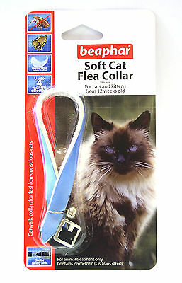 Beaphar Cat Flea Collar, Catwalk Collection Blue - Valentina Valentti UK