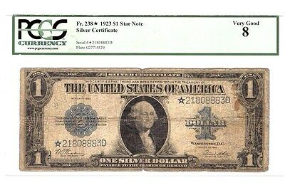 1923 Silver Certificate STAR note ~ Woods/White Signatures ~ PCGS VG 8 ~ Nice