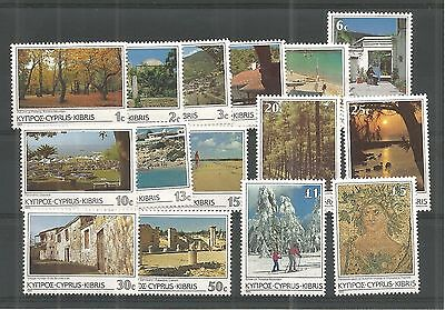 Cyprus 1985 Scenes And Landscapes Sg,648-662 U/m Nh Lot 16A