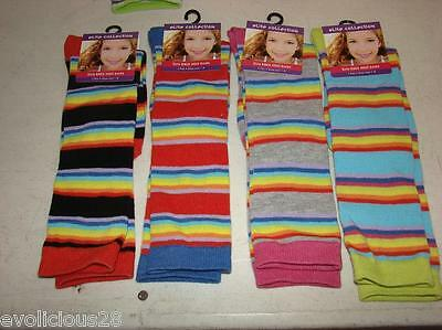 "Girls Socks KNEE HIGH ""ELITE COLLECTION"" STRIPES DESIGN BRAND NEW WITH TAGS"