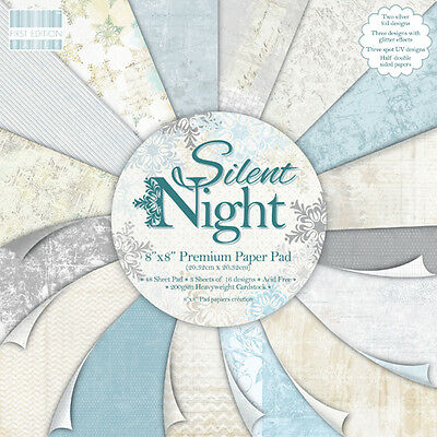 """First Edition 'Silent Night' 8"""" x 8"""" Premium Papers 16 SHEETS"""
