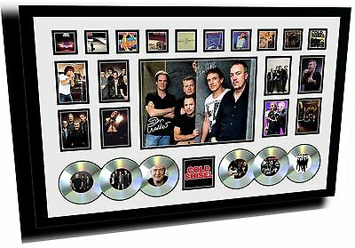 New Cold Chisel Signed Limited Edition Framed Memorabilia