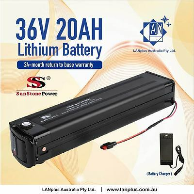 New 36V 20AH Lithium Battery 4 eBike Electric Scooter Bicycle w/ KeyLock Charger