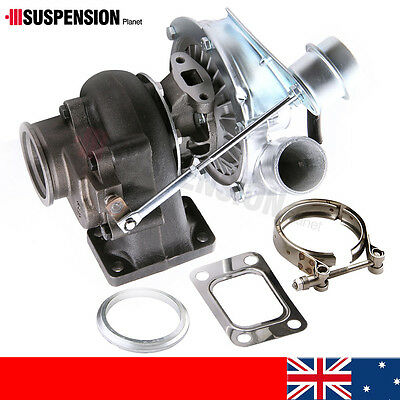 Universal Turbo Turbocharger T3T4 T3 .63 AR Oil Cold  V-Band / 4 Bolts Flange