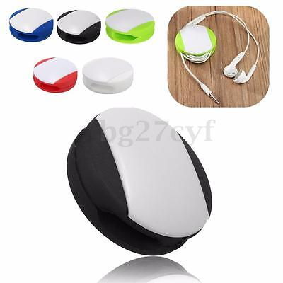 Silicone Auto Earbud Earphone Headphone Cable Wrap Winder Wire Holder Organizer