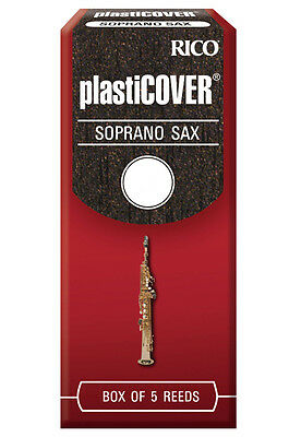 Rico Plasticover Soprano Sax Reeds, 5-Pack, Model RRP05SSX