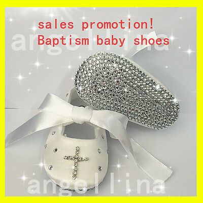 Baby Christening Crib Shoes Baptism CROSS Bling Bling Shoes Fashion Baby Shoes