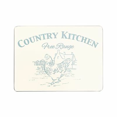Country Kitchen Set of 4 Placemats, Cork