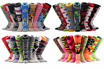 Samson® Knee High Sport Funky Socks Funny Cartoon Novelty Pattern Large 6-11