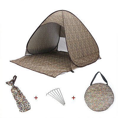 Outdoor Sport 2-3 Person Camping Automatic Instant Pop up Family Tent Waterproof
