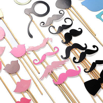 36PCS New Funny Masks Photo Booth Glasses Props Mustache Wedding Birthday Party