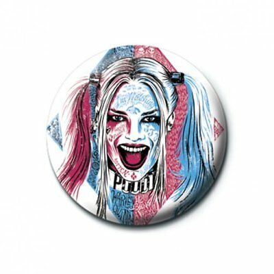 Suicide Squad Pin Badge 'Harley Quinn Tattoo' 25mm Badge Official