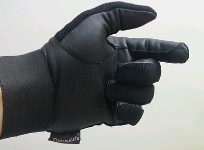 Brand New Horse Riding Gloves Black Thinsulate/synthetic leather XXS