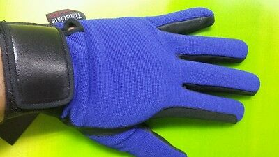 Brand New Horse Riding Gloves Thinsulate/synthetic leather Blue Large