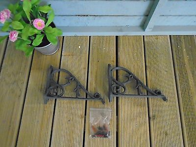 A Pair of Garland Stratford Wall Planter Support Hanging Brackets 23cm x 17cm
