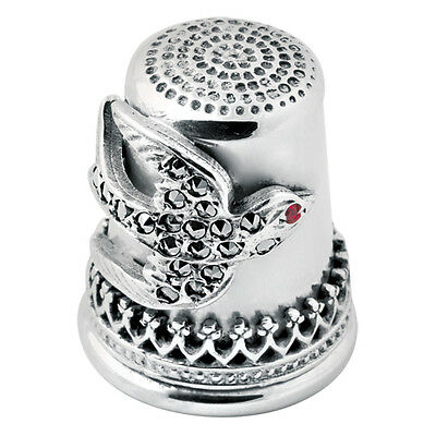 Marcasite Swallow Thimble Sterling Silver 925 Hallmarked New From Ari D Norman