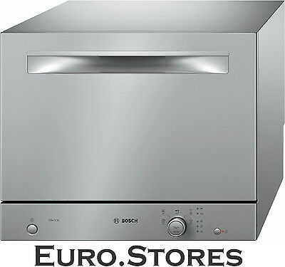 Bosch Serie 2 SKS51E28EU Table Top Dishwasher Silver 5 Programmes Genuine NEW