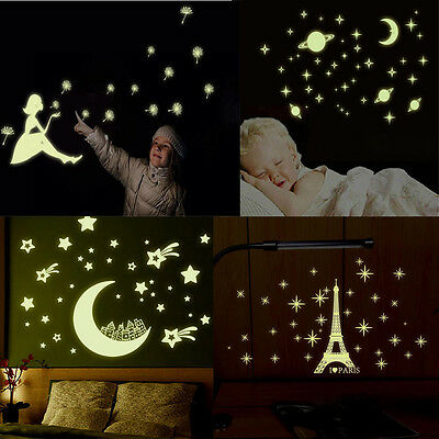 Luminous Wall Sticker Home Decor Glow In The Dark Star Decal Baby Kid room