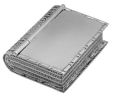 Book Pillbox Sterling Silver 925 Hallmarked New From Ari D Norman