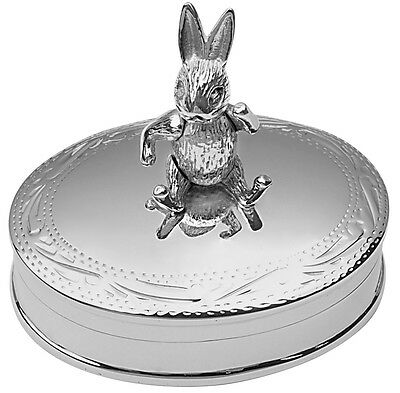 Moving Rabbit Pillbox Sterling Silver 925 Hallmarked New From Ari D Norman
