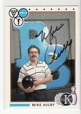 Mike Aulby Autographed Bowling Card Rare Hard To Find