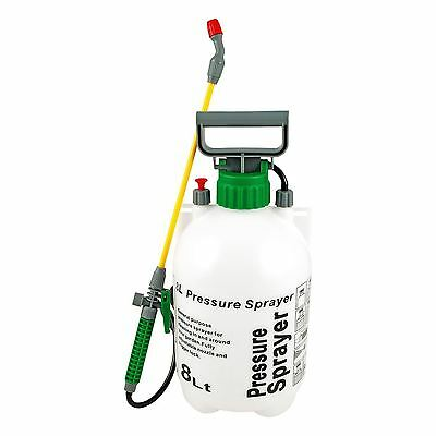 New 8L Litre Garden Pressure Sprayer Water Chemicals Weed Killer