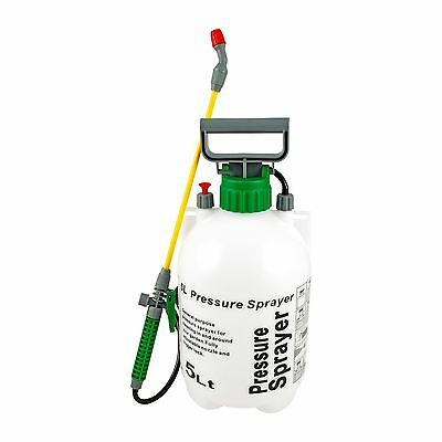 New 5L Litre Garden Pressure Sprayer Outdoor Water Chemicals Weed Killer
