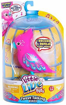 Little Live Pets - POPPIN' POLLY - Pink  Interactive Bird - NEW