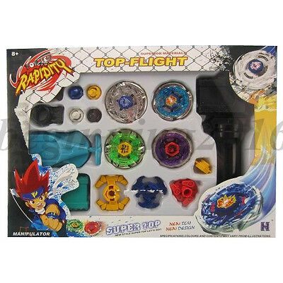 Beyblade Metal Master Fusion Top-Flight Rapidity Fight 4D Launcher Grip Toy Kits