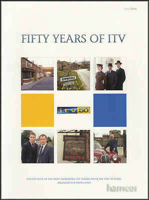 Fifty Years of ITV Piano Solo Music Book TV Theme Tunes Emmerdale Black Beauty