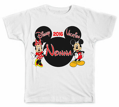 Personalized Disney Vacation Mickey Head with Mickey and Minnie Mouse T-Shirt