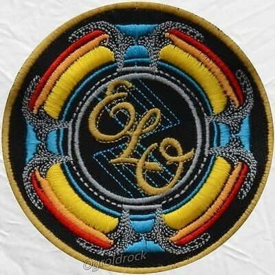ELO New World Record Logo Embroidered Patch Electric Light Orchestra Jeff Lynne