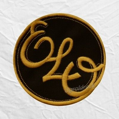 ELO Logo Embroidered Patch Electric Light Orchestra Jeff Lynne Richard Tandy
