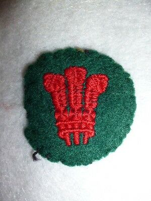 North Wales District Embroidered Patch, British Army