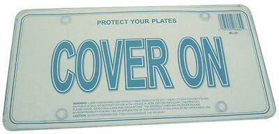License Plate Frame Flat light Blue Cover, 2pc fit Canada & USA License plate