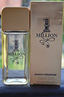 Paco Rabanne 1 Million After Shave Lotion BNIB 100ml/3.3fl.oz.--Made in SPAIN--