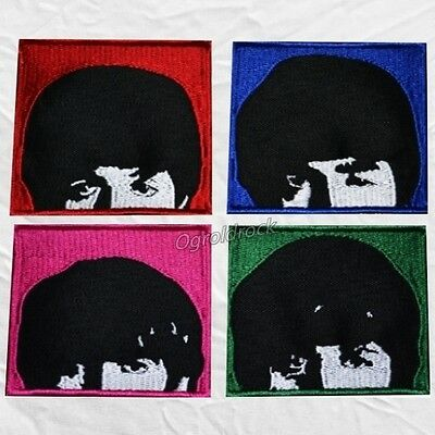 Set The Beatles Embroidered Patches A Hard Day's Night Lennon Paul George Faces