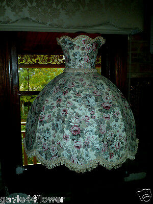 Floor Lamp Shade~Unique~Professionally Made~Victorian Style~Fully Lined